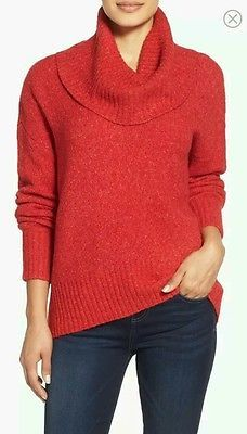 NWT MICHAEL KORS COWL NECK SWEATER RED BLAZE SIZE MEDIUM MSRP 99.50