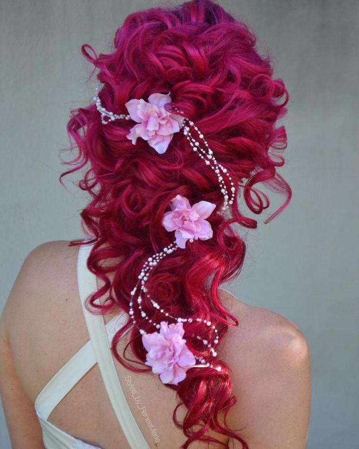 Curly+Bridal+Hairstyle+Crimson+Hair