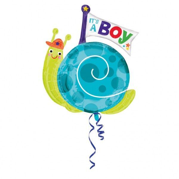 Poze Balon folie figurina Melc Baby Boy 63x81cm