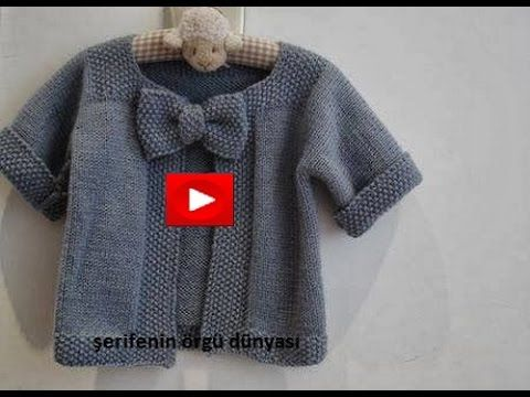 Fiyonklu Kız Bebek Yeleği Yapımı - YouTube