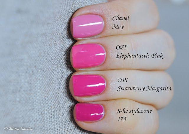 opi dim sum plum dupe | Еще одно сравнение OPI Strawberry Margarita и OPI Dim ...