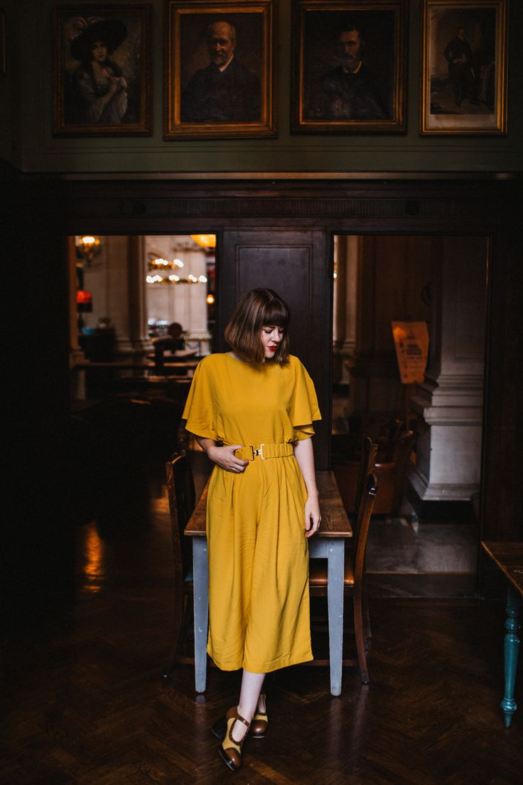 asos yellow jumpsuit, perfect for autumn / fall fashion