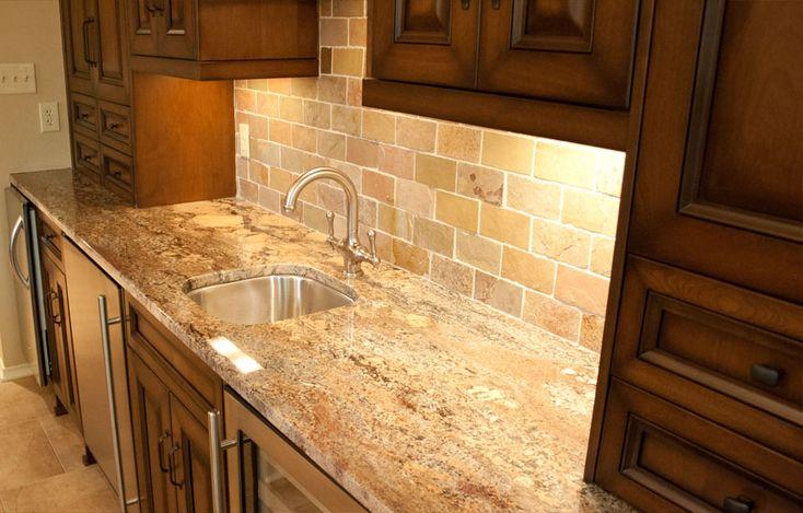 Crema Bordeaux Granite White Kitchen