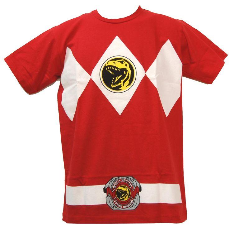 Red Power Ranger Men's T-Shirt Adult