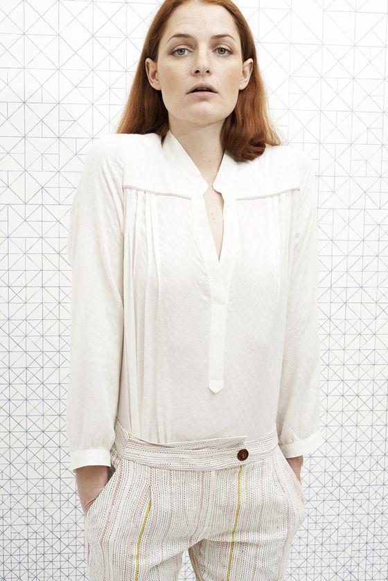 vanina escoubet Blouse BIANCA blanche white shirt pantalon tinsels