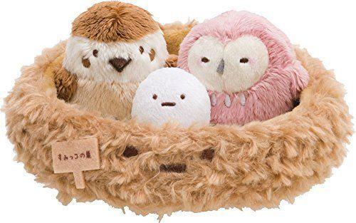San-X Sumikko Gurashi Multi Tray Plush Doll Owl sparrow bird's Nest Kawaii Japan #SanX