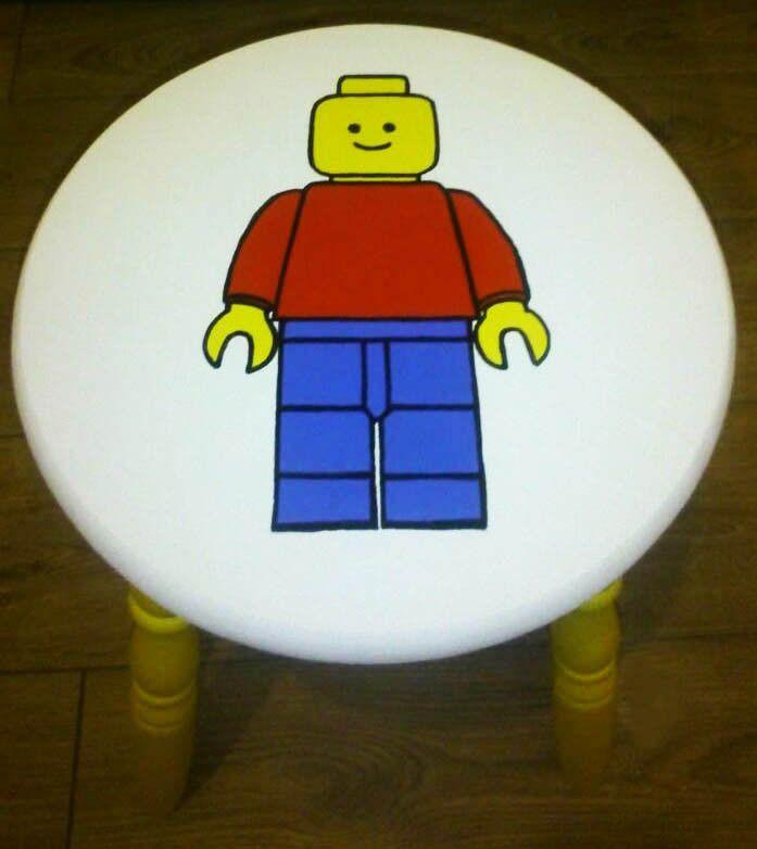 Lego Handpainted Stool