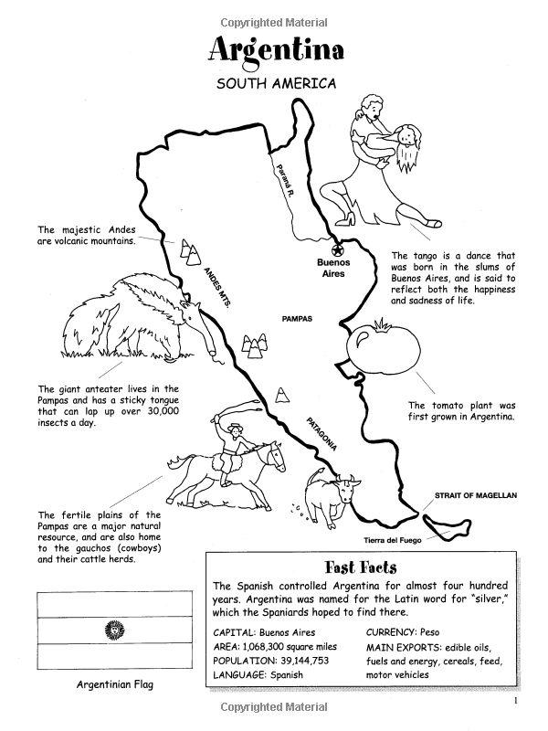 Printable Worksheets » Latin America Worksheets