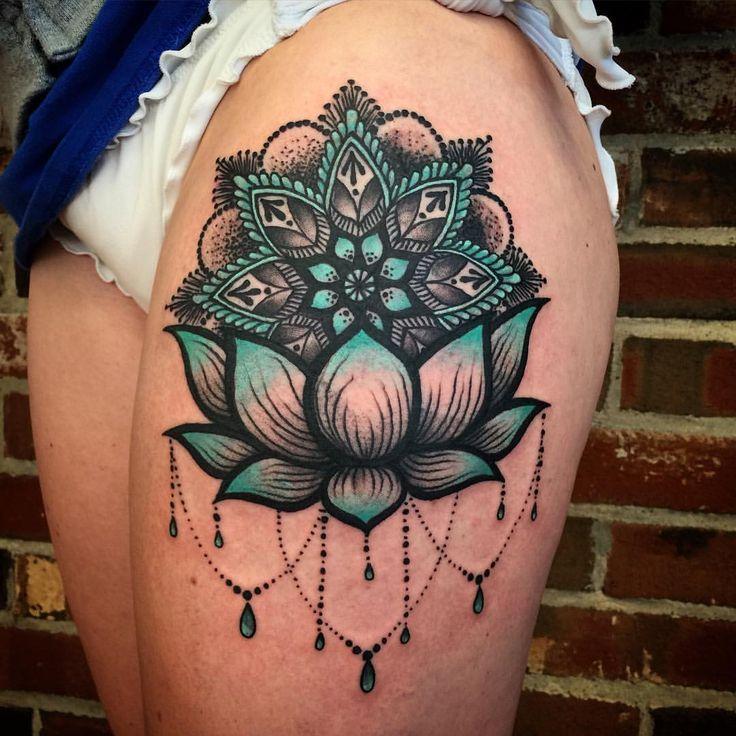 590 best tattoos images on pinterest for Mandala hip tattoo