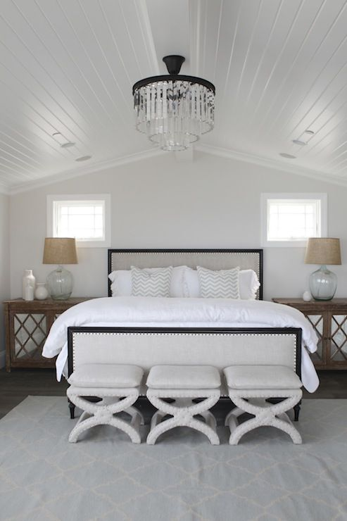 o and d interiors bedrooms beadboard ceiling vaulted