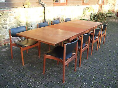Danish France Son Finn Juhl Teak Retro 1960 70 S Dining Table And 8 Chairs In 2018 Pinterest Chair