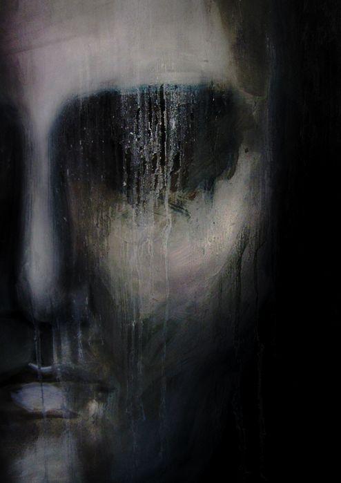 Untitled | Kat von Rose , 2015 mixed media on canvas     #dark #darkart #finearts #modernart #contemporaryart #paintings #darkaesthetics #figure #darkness #noir #darkpaintings