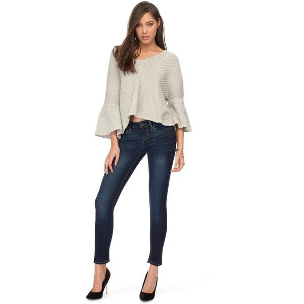 Guess Power Skinny Jeans (€50) ❤ liked on Polyvore featuring jeans, women, zipper jeans, guess jeans, skinny fit jeans, super skinny jeans and tall skinny jeans