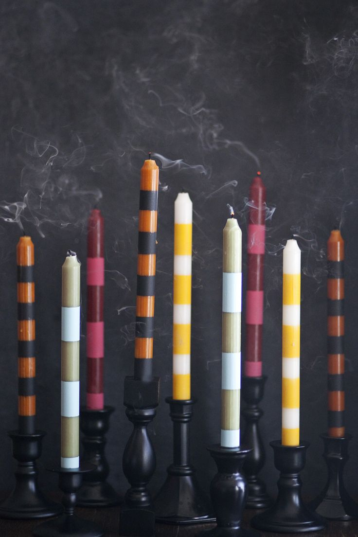 DIY Striped Candlesticks Tutorial