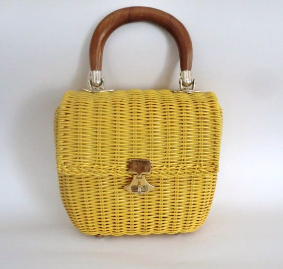 VINTAGE Basket PURSE by BabylonSisters on Etsy, $32.00