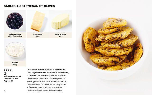 Sablés parmesan et olives JF Mallet