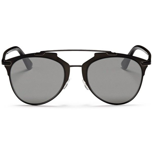 aae1e12803 Dior  Reflected  acetate temple metal veneer aviator sunglasses ( 475) ❤  liked on Polyvore featuring accessories