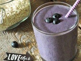 July 2014 Newsletter: Blueberry Muffin Breakfast Smoothie