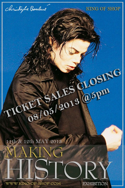 ATTENTION!! By Tomorrow, you will have ONLY 1 week to get your tickest for MAKING History Exhibition on the 11th & 12th May in LONDON!  Get your tickets NOW at www.king-of-shop.com