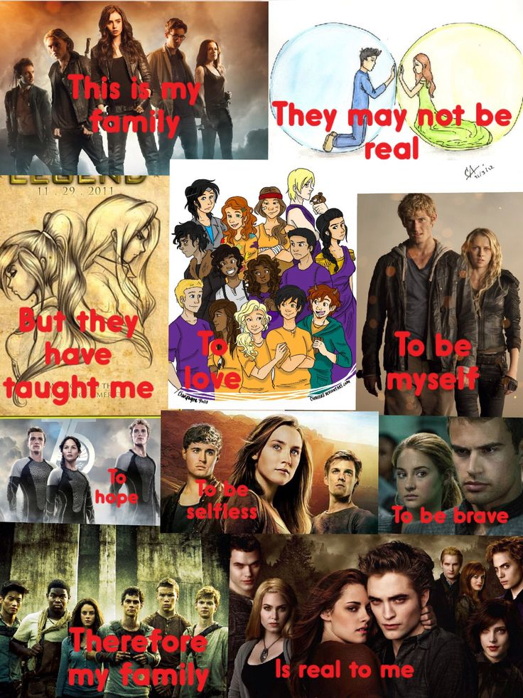 Mortal Instruments, Matched, Legend, Percy Jackson, I am number 4 , The Hunger Games, The Host, Divergent, The maze runner, Twilght
