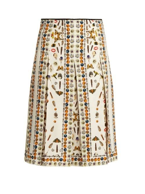 ALEXANDER MCQUEEN Obsession Print Pleated Skirt - £1,165.00