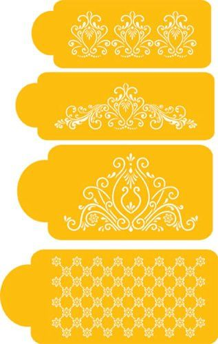 Cake Decorating Stencils Uk : 17 Best images about Stencil for Cookies, Cakes & Cupcakes ...