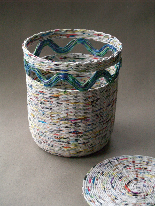 recycled paper laundry basket * BluReco