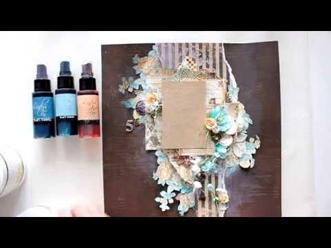 "Elena Morgun Step-by-step Layout ""56"" Tutorial - YouTube Lindy's stamp gang"