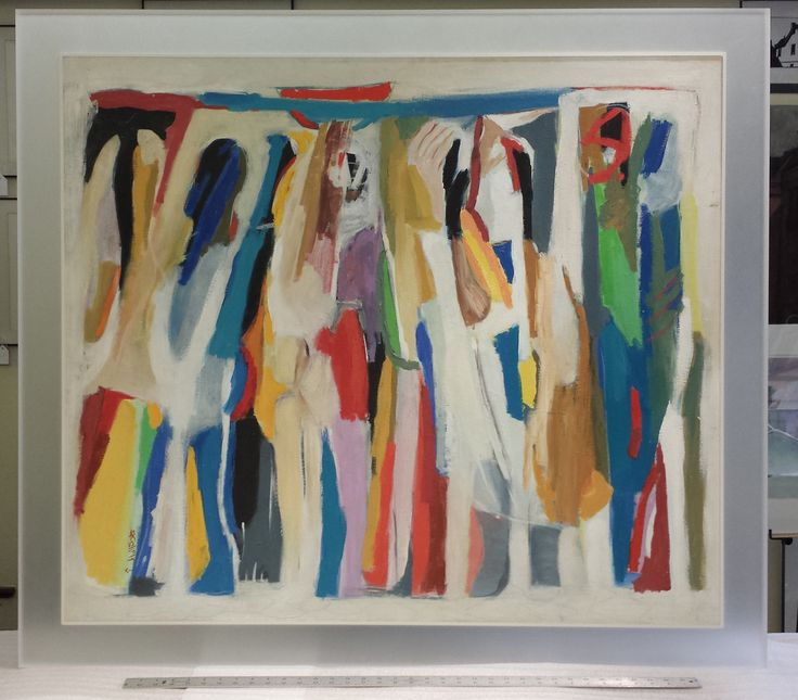 """Dancers"" Acrylic on Paper frame with Seamless Acrylic Frosted Frame"