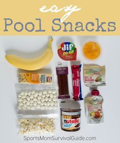 Find some great and EASY summer pool snacks to take with you this summer! http://www.sportsmomsurvivalguide.com/2014/05/28/pool-snacks/?utm_content=bufferee7c2&utm_medium=social&utm_source=pinterest.com&utm_campaign=buffer#_a5y_p=3894446