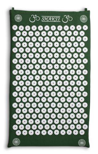 """Versione Orginal con 6.210 punti di contatto. Portatile (43 cm x 69 cm), leggero e morbido.  L'innovativo tappetino svedese per agopressione Shakti Mat Original ha un cuore di soffice gomma e un involucro in puro cotone indiano biologico, su cui sono applicati, a mano, 230 """"fiori"""" in plastica ABS ipoallergenica, ognuno dei quali contiene 27 mini-punte lunghe tre millimetri."""