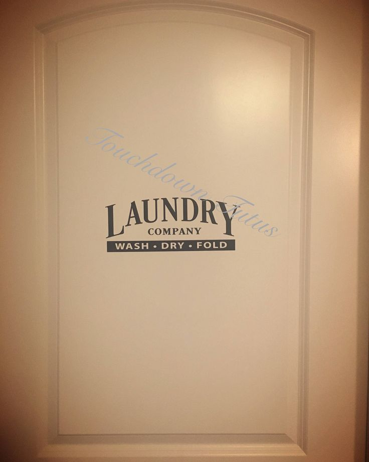 A personal favorite from my Etsy shop https://www.etsy.com/listing/511577408/laundry-room-decal