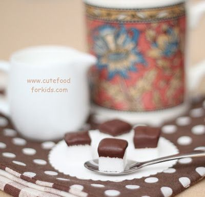 Chocolate Dipped Sugar Cubes for Coffee