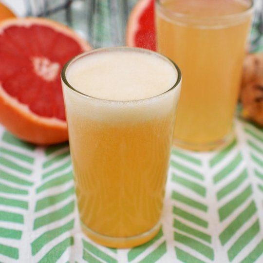 Recipe: Grapefruit Honey Ginger Soda made with honey instead of sugar, might have to try this