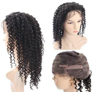 【Curly Hair Weave Hairstyle For Long Black Hair】Brazilian Malaysian Peruvian Indian ladies wigs kinky curly lace front  virgin hair  cheap wigs for black women     the wig company