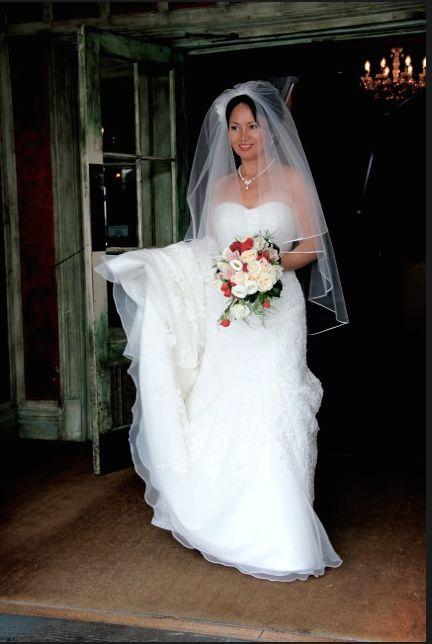 Jenny's wedding dress from Jenny's Bridal