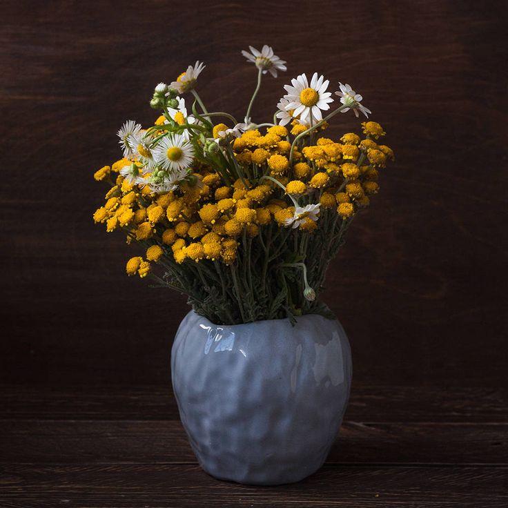 Gray ceramic vase, wabi sabi vase, modern flower vase, scandinavian vase, rustic vase, japanese raku vase, beach style vase, eco urban vase by KateVoronina on Etsy