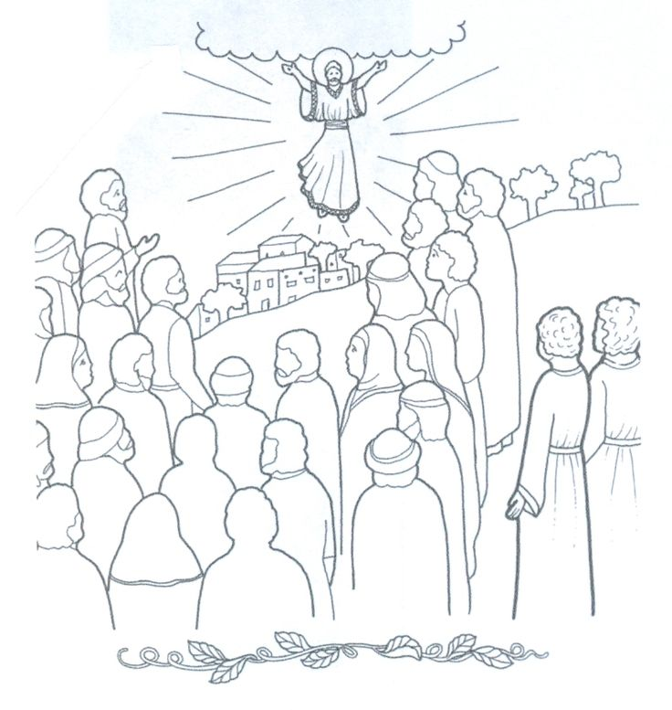 christs return coloring pages - photo#5