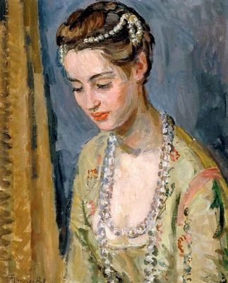 Vanessa Bell, painting of Angelica Garnett as 'Mistress Millament' in 'The Way of the World'