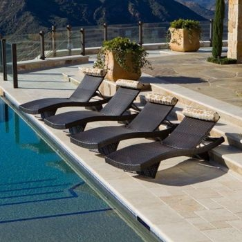 Etonnant Portofino Signature Patio Lounger 4 Pack Costco $1,000+
