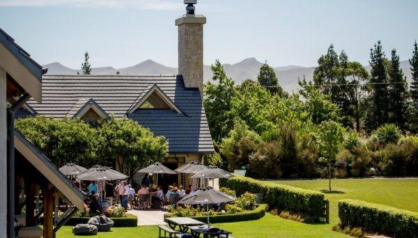 Waipara Hills Courtyard Cafe Winery Cellar Door SH1 Waipara