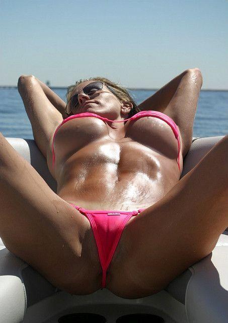 Sunbathing Bikini Babe
