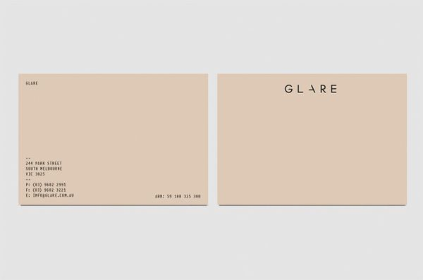 Business Cards / glare_card