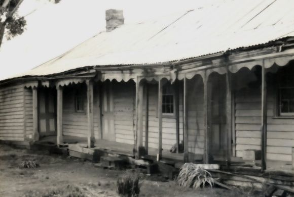 Glynwylln Homestead, north of Campbells Bridge near Stawell, now demolished. National Trust