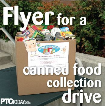 Get our customizable (and free!) flyer for your upcoming food drive. #pto #pta
