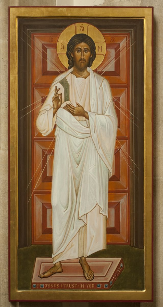 God is Love. (All Merciful Christ of Roath Icon by Aidan Hart)