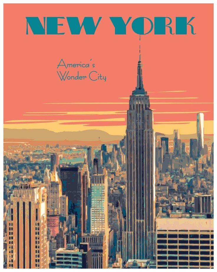 Vintage New York Art New York City In 2020 Vintage Posters Decor Vintage Poster Design City Wall Art