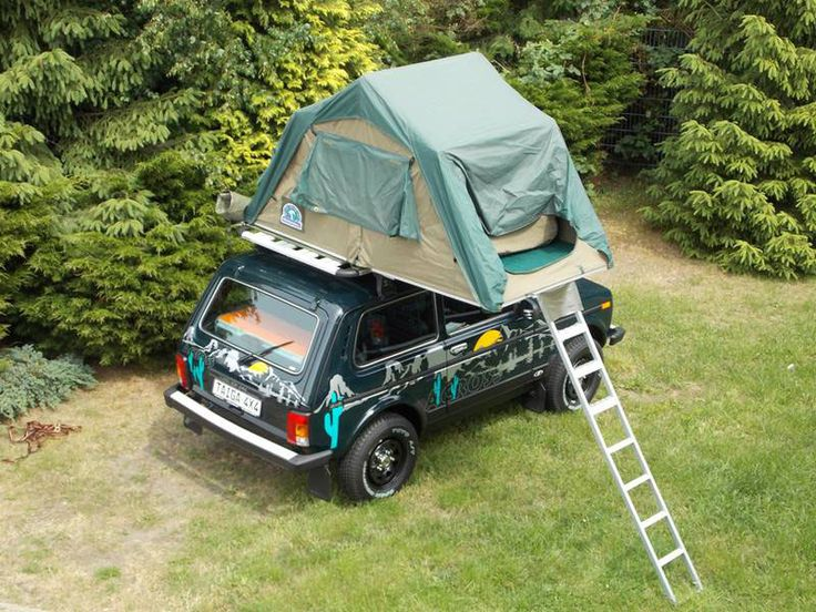 LADA Niva CAMP mit Dachzelt – Ansicht von oben