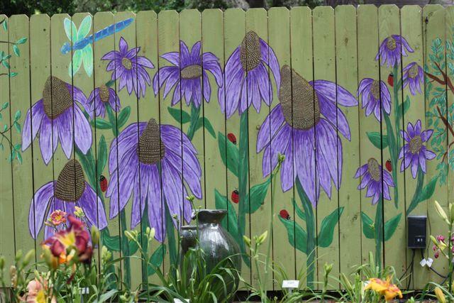 Best 25 garden fence art ideas on pinterest fence art for Cypress gardens mural