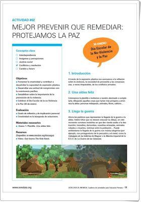 """Propuesta didáctica: """"Protejamos la paz"""" (Unicef)"""